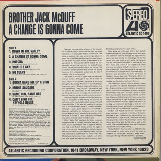 Brother Jack McDuff / A Change Is Gonna Come back