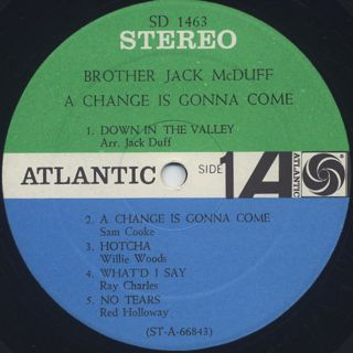 Brother Jack McDuff / A Change Is Gonna Come label