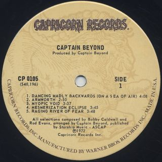 Captain Beyond / S.T. label