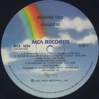 Crusaders / Standing Tall label