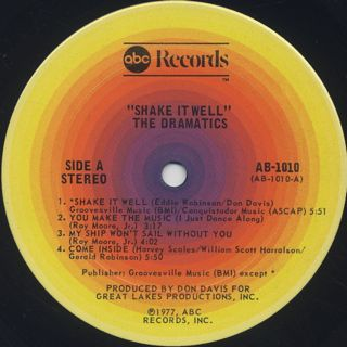 Dramatics / Shake It Well label