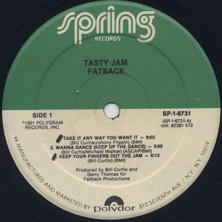 Fatback / Tasty Jam label