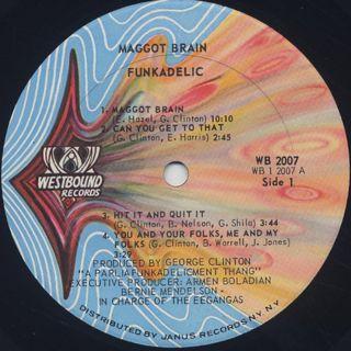 Funkadelic / Maggot Brain label