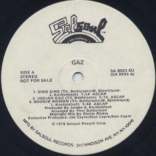 Gaz / S.T. label