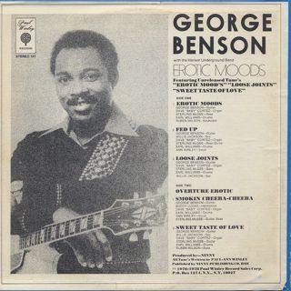 George Benson / Erotic Moods back