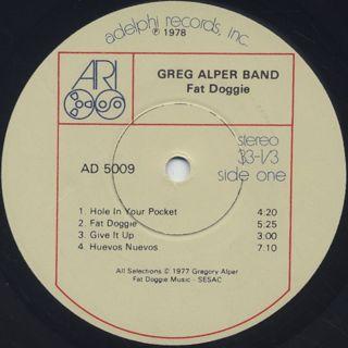Greg Alper Band / Fat Doggie label