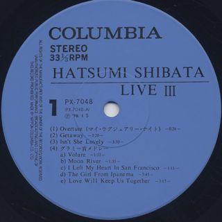 Hatsumi Shibata / Live III label