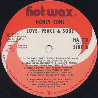 Honey Cone / Love, Peace & Soul label