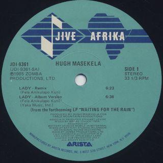 Hugh Masekela / Lady label