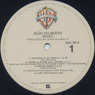 Joao Gilberto / Brasil label