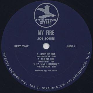 Joe Jones / My Fire! More Of The Psychedelic Soul Jazz Guitar Of Joe Jones label