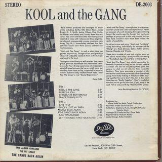 Kool and The Gang / Kool And The Gang back