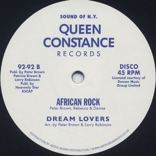 Licky / Dream Lovers / African Rock back