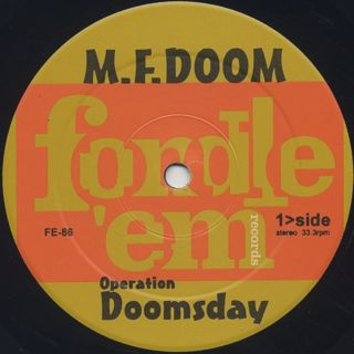 MF Doom / Operation: Doomsday label