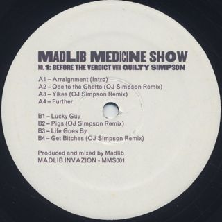 Madlib / Medicine Show Before The Verdict label