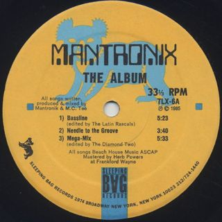 Mantronix / The Album label