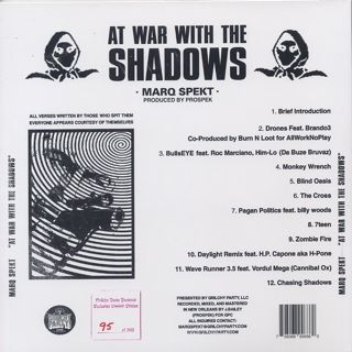 Marq Spekt / At War With The Shadows back