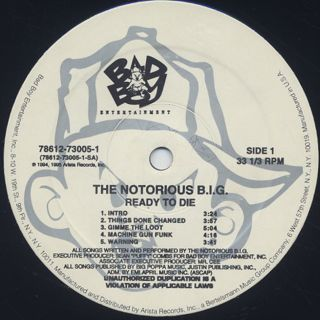 Notorious B.I.G. / Ready To Die (2LP) label