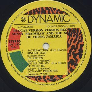Sonny Bradshaw / Reggae Version label
