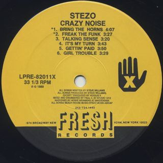 Stezo / Crazy Noise label