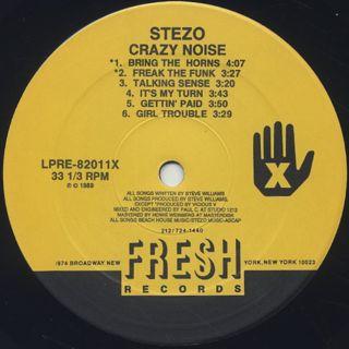 Stezo / Crazy Noise label