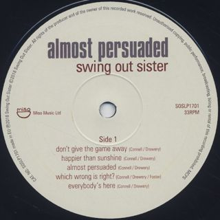 Swing Out Sister / Almost Persuaded label