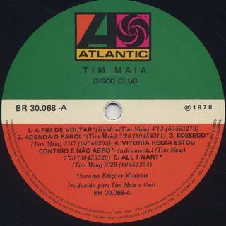 Tim Maia / Disco Club label