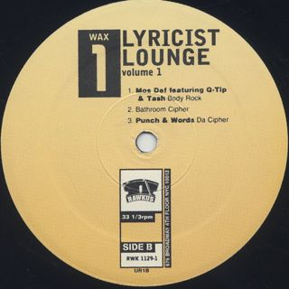 V.A. / Lyricist Lounge Volume One label