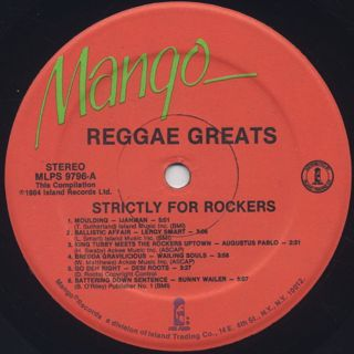 V.A. / Reggae Greats Strictly For Rockers label