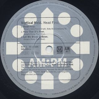 Vertical Hold / Head First label