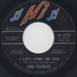 Ann Peebles / I Can't Stand The Rain front