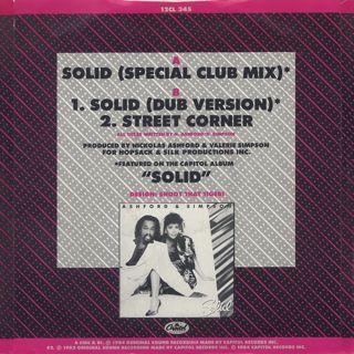 Ashford & Simpson / Solid (Special Club Mix) back