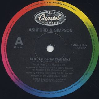 Ashford & Simpson / Solid (Special Club Mix) label