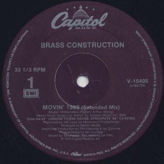 Brass Construction / Movin' 1988 back
