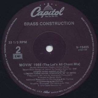 Brass Construction / Movin' 1988 label