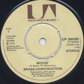 Brass Construction / Movin' c/w Talkin'