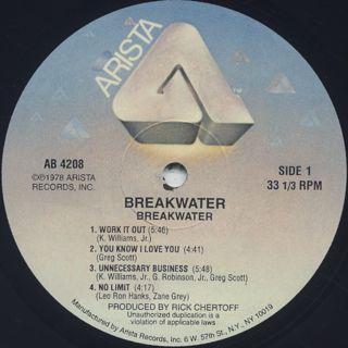 Breakwater / S.T. label