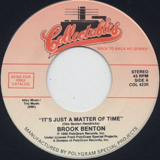 Brook Benton / It's Just A Matter Of Time c/w Jerry Butler / Never Gonna Give You Up