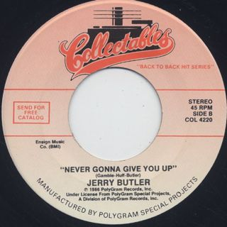 Brook Benton / It's Just A Matter Of Time c/w Jerry Butler / Never Gonna Give You Up back