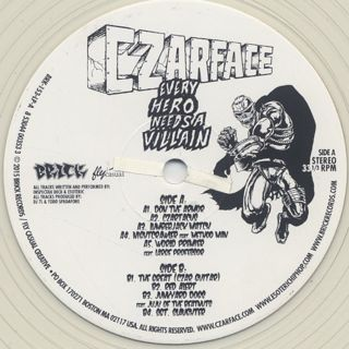 Czarface / Every Hero Needs A Villain label