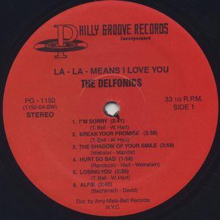 Delfonics / La La Means I Love You (180g) label