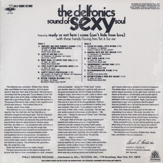 Delfonics / Sound Of Sexy Soul back