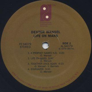 Dexter Wansel / Life On Mars (Re) label