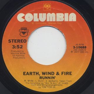 Earth, Wind & Fire / Fantasy c/w Runnin' back