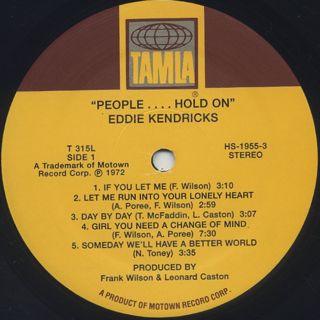 Eddie Kendricks / People... Hold On (Re) label