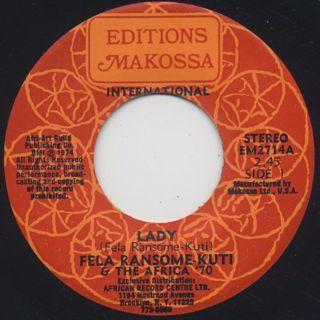 Fela Ransome-Kuti & The Africa '70 / Lady c/w Shakara Oloje