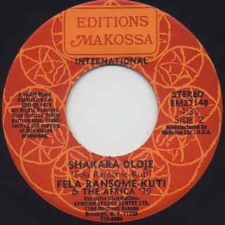 Fela Ransome-Kuti & The Africa '70 / Lady c/w Shakara Oloje back