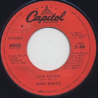 Gary Bartz / Shake Your Body c/w Love Affair back