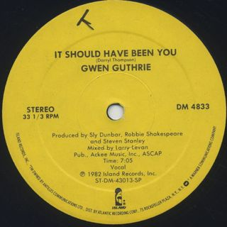Gwen Guthrie / It Should Have Been You back