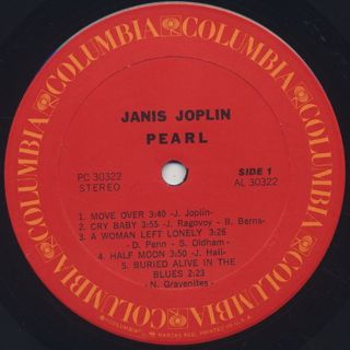 Janis Joplin / Pearl label